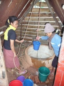 Ambalavao  Provision d'eau avant le forage 2